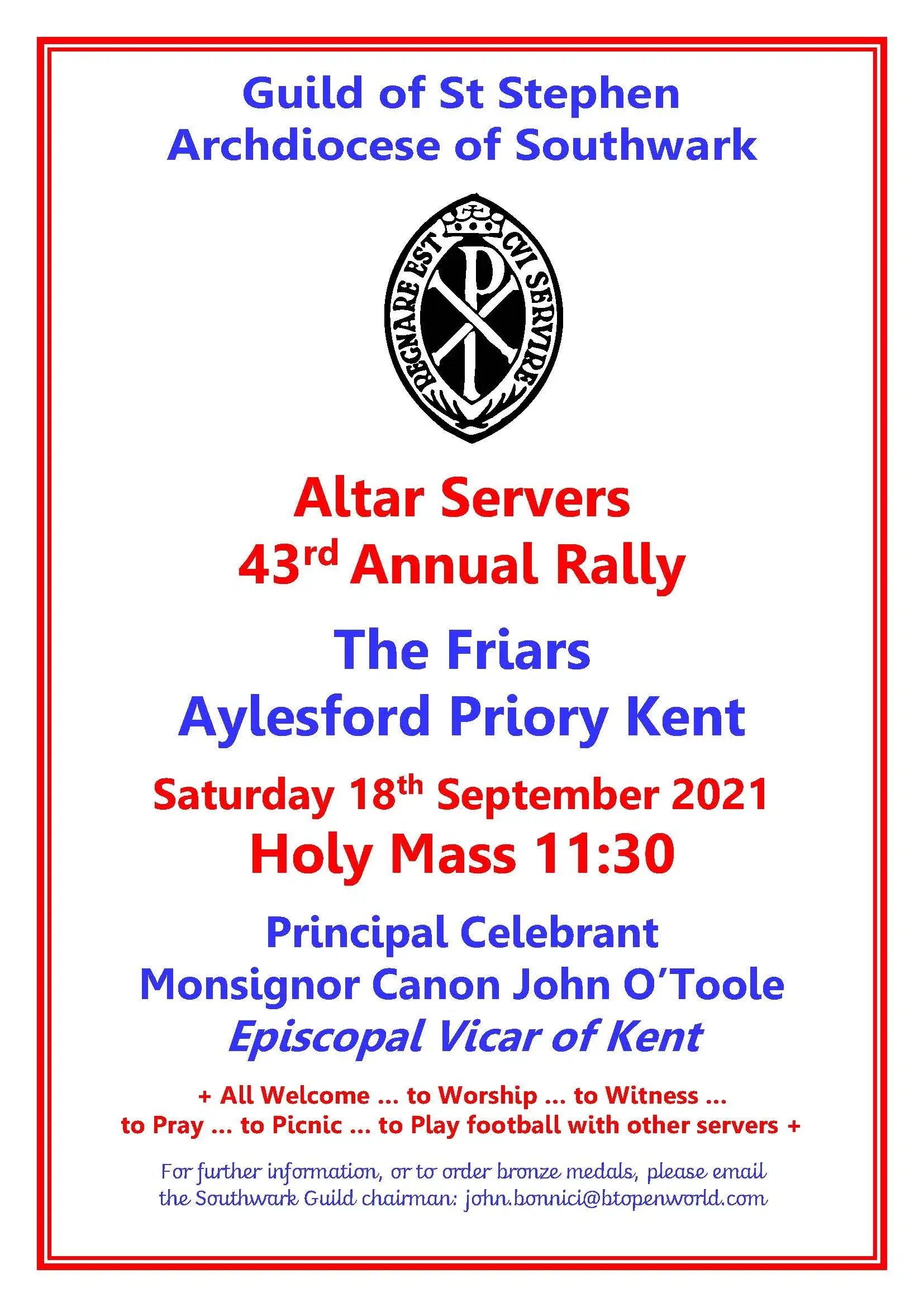 Guild of St Stephen Annual Altar Servers' Rally